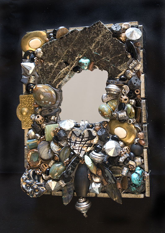 Found Objects and Treasures Mirror